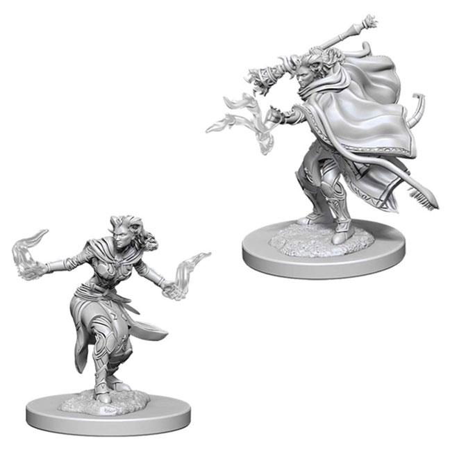 Dungeons & Dragons Nolzur's Marvelous Unpainted Miniatura par jugar a rol - Chica Tiefling Warlock
