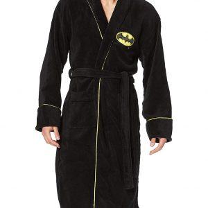 Bata negra de DC comics con el simbolo de Batman. Perfecto complemento o regalo para cualquier freak o fanático del cómic.