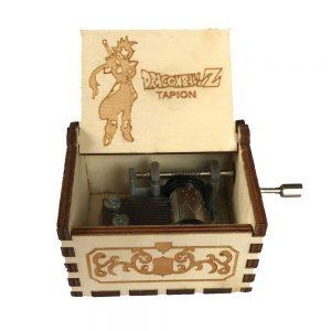 Caja de música de madera con manivela de Tapión del anime Dragon Ball