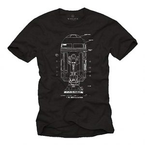 Camiseta Star Wars negra droide R2D2