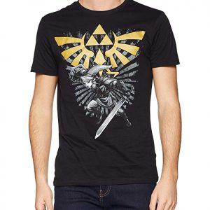 Camiseta Triforce Link Zelda videojuego negra