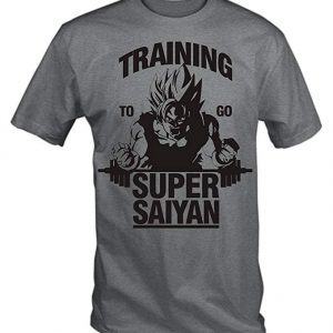 Camiseta de Dragon Ball gris Super Saiyan Goku