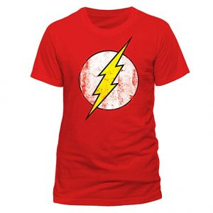 Camiseta roja rayo Flash DC comics