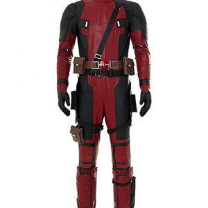 Disfraz cosplay para adultos de Deathpool, personaje de Marvel cómics.