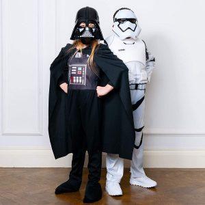 Disfraz soldado Trooper de la saga de películas Star Wars para niños y niñas.