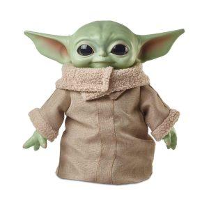 Figura Star Wars Baby Yoda de la serie The Mandalorian, peluche de 28 cm deMattel