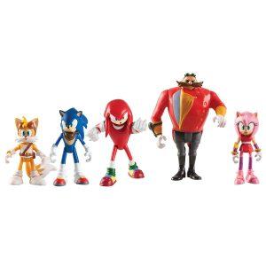 Figuras frikis articuladas de SEGA, Sonic, Knuckles, Tails, Amy y el mal Dril Dr. Eggman