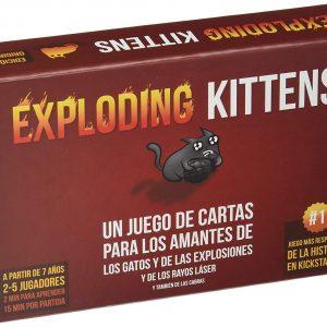 Juego de cartas friki Exploding Kittens
