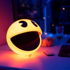 Lámpara Pac-Man comecocos retro arcade juego