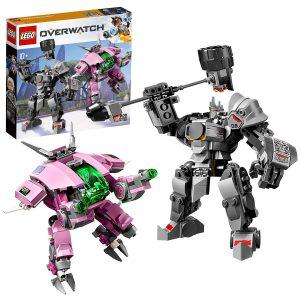 LEGO Overwatch - D.Va & Reinhardt, Juguete de Construcción de Personajes del Videojuego con Trajes Robóticos