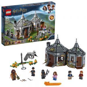 LEGO Harry Potter - Cabaña de Hagrid Rescate de Buckbeak, Juguete de Construcción con Hipogrifo, Incluye Minifiguras de Harry, Ron y Hermione