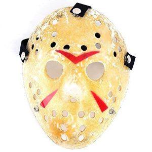 Máscara de hockey con los mejores acabados perfecta para Halloween de Jason de la película de terror Viernes 13.