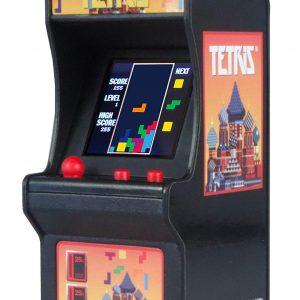 La máquina arcade más pequeña con el videojuego Tetris. Llavero réplica de la máquina de juego arcade tetris.