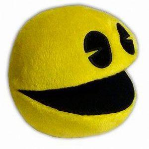 Peluche Pac-Man retro arcade game amarillo