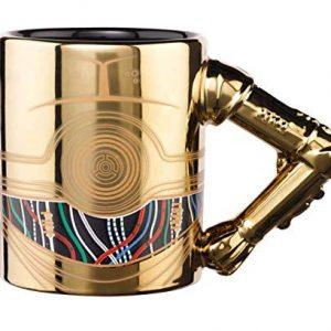 Taza dorada de robot C3PO película Star Wars