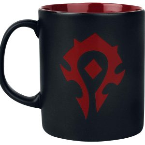 Taza gaming videojuego Warcraft world of horda negra y roja