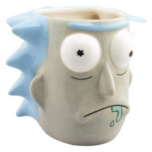 Taza friki 3D de Rick Sanchez de la serie de animación Rick y Morty