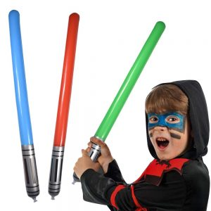 Inflables Star War Light Saber Sword Stick Globos para Suministros de Fiesta Favores de Fiesta Globos Color Aleatorio
