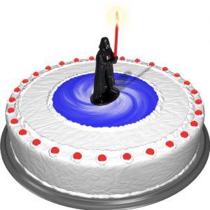 Vela friki para Tartas originales, diseño de Darth Vader de Star Wars
