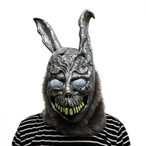 Máscara de terror perfecta para Halloween de la película de culto Donnie Darko. Frank the Rabbit, el conejo de miedo.