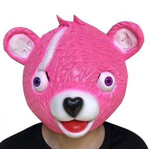 Máscara gamer Fortnite Líder del equipo arrumacos o Cuddle Team Leader. Personaje legendario del videojuego friki Fortnite. Panda rosa
