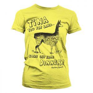 Napoleon Dynamite Oficialmente Licenciado Tina Mujer Camiseta