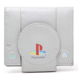 Cartera y monedero con diseño gris de Sony Play Station 1. El accesorio friki perfecto para gamers retro.
