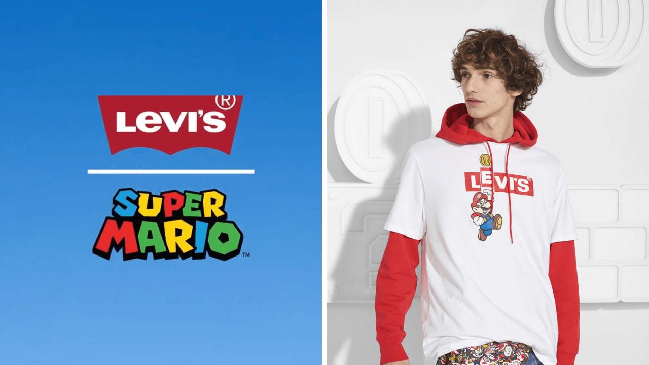 Colaboración de Levi's con los personajes del videojuego Super Mario de Nintendo nos dan una ropa friki
