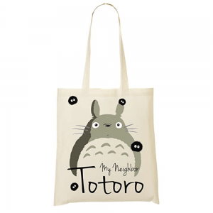 Accesorio friki tote bag, bolsa algodón de la película anime Mi Vecino Totoro producida por el Studio Ghibli.
