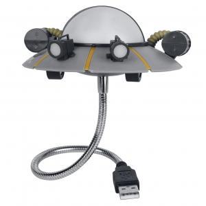 Lámpara réplica de platillo volante o UFO para conector USB de la serie de animación Rick y Morty.