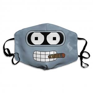 Mascarilla friki graciosa de Bender inspirado en la serie de animación Futurama para prevenir y protegerse ante el Coronavirus o Covid-19.
