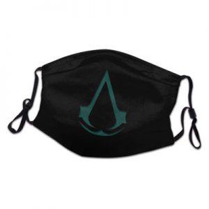 Mascarilla friki para gamers con icono del videojuego Asasssin's Creed protectora, lavable y reutilizable de poliéster.