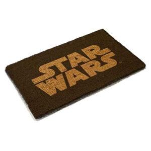 Felpudo friki de Star Wars (Guerra de las Galaxias) logotipo. Doormat frikis para decorar tu casa.