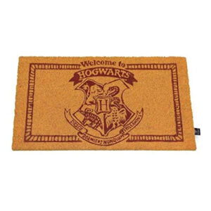 Felpudo para frikis de Harry Potter. Decoración para tu casa friki. Bienvenido a Hogwarts.
