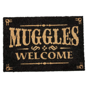 Felpudo para frikis de Harry Potter. Decoración para tu casa friki. Muggles Welcome.