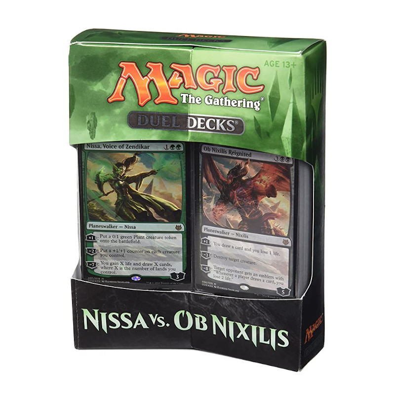 Magic the Gathering Kit Juego de Duelo de Cartas de Nissa vs OB Nixilis