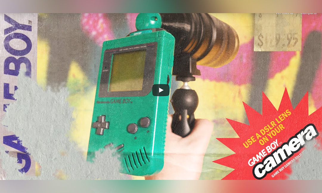 Experimento friki. ¿Qué ocurre al unir un objetivo DSLR a una Game Boy Camera?