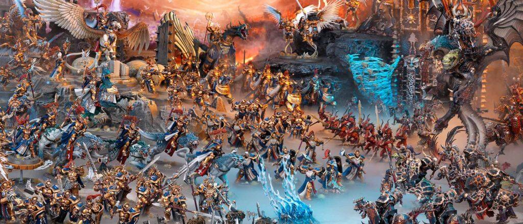 Warhammer, el wargame de miniaturas que libran batallas épicas y de proporciones masivas.