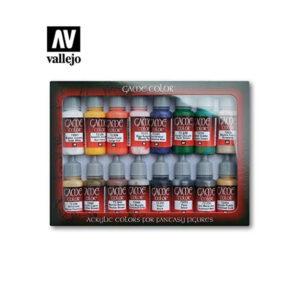 Set de 16 pinturas acrílicas Vallejo Game Color perfectas para miniaturas Warhammer