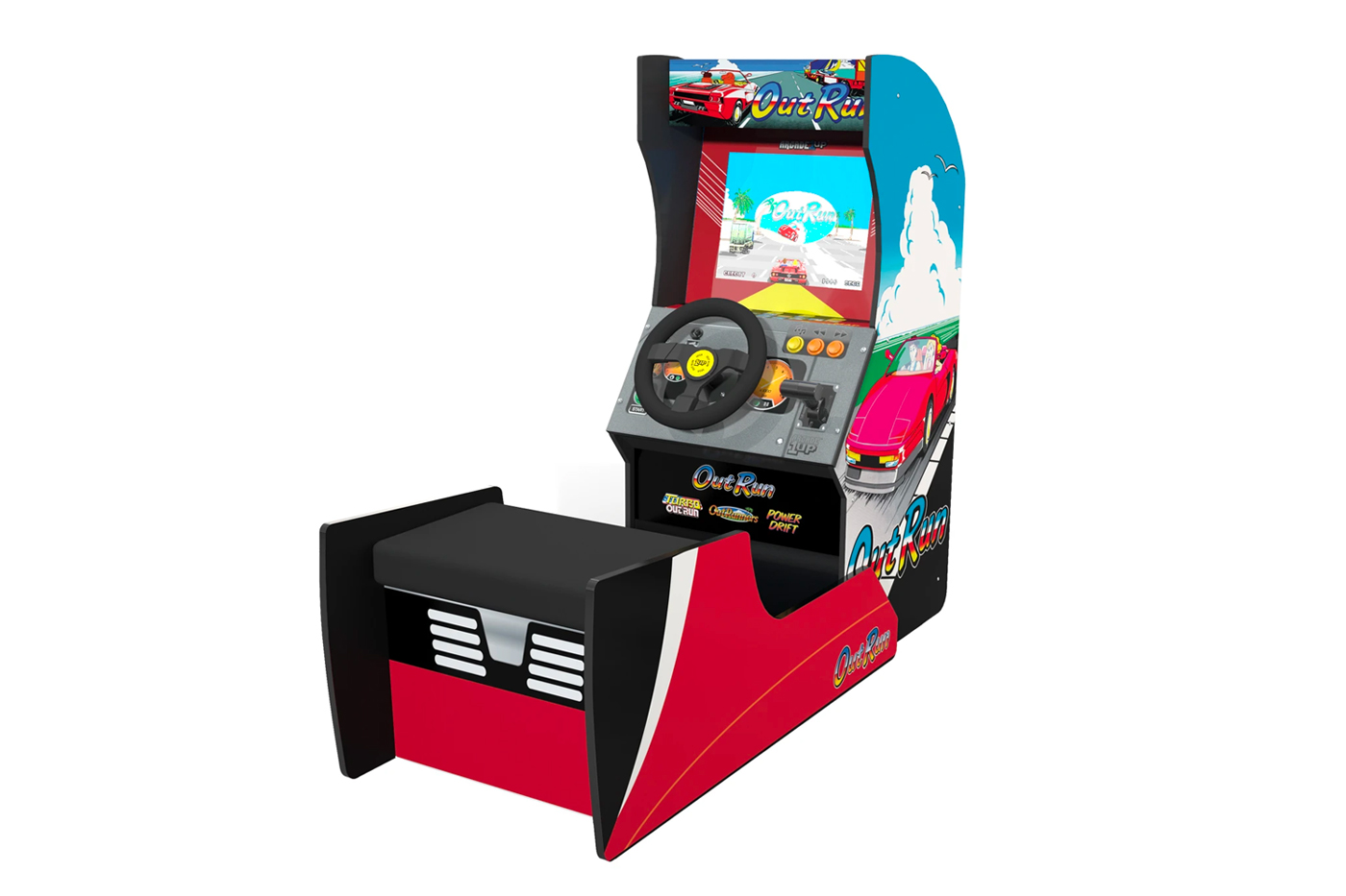 Máquina arcade retro Arcade1UP video juego OutRun de Sega