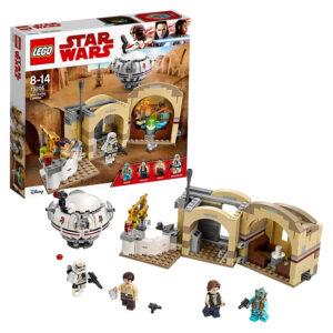 Set de LEGO Star Wars, con la Cabaña de Obi-Wan Kenobi, Luke Skywalker y R2-D2