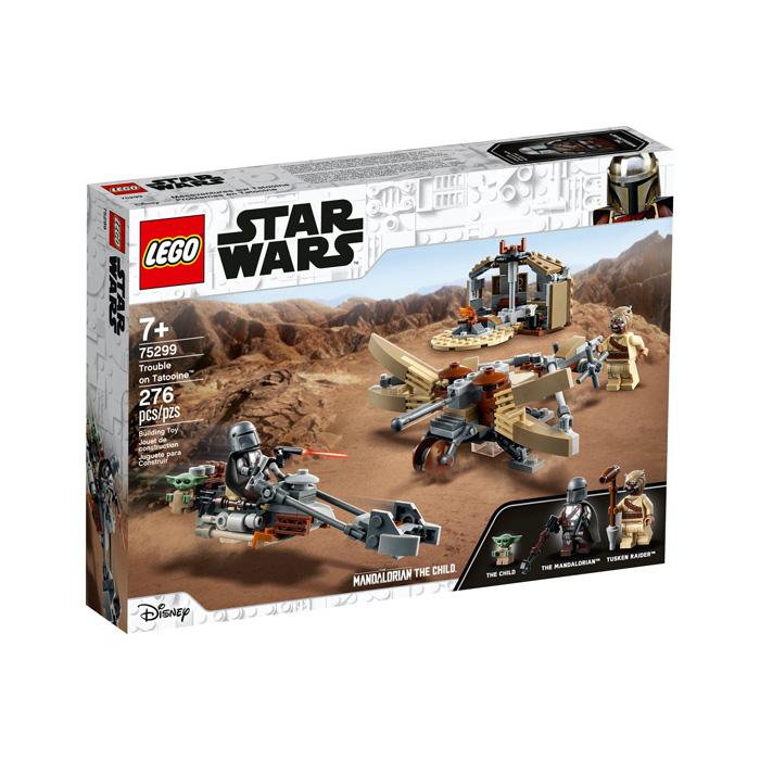 Set lego friki StarWars The Mandalorian Problemas en Tatooine Baby Yoda Din Djarin caja producto