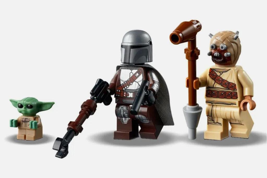 Set lego friki StarWars The Mandalorian Problemas en Tatooine Baby Yoda Din Djarin personajes